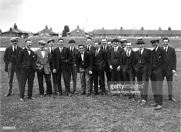 The players of Brentford Football Club in their civvies