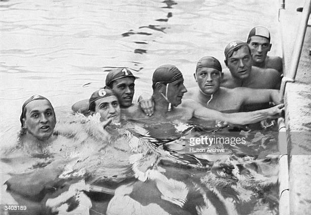 The Hungarian waterpolo team 1936 Olympic champions