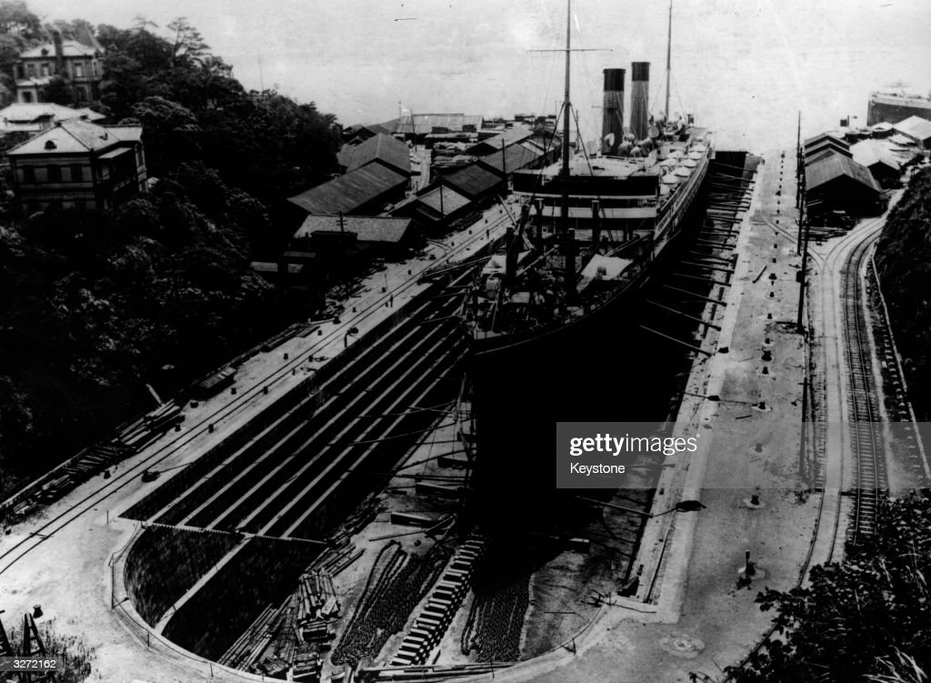 The dry docks in Nagasaki the target of the second atomic bomb to be dropped on Japan
