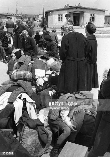 Some of the estimated two and a quater million Germans who are being expelled from Czechoslovakian territory after the collapse of German power in...