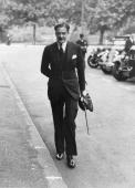 Sir Anthony Eden British statesman and prominent Foreign Secretary and Prime Minister on his way to a cabinet meeting at Downing Street about the...