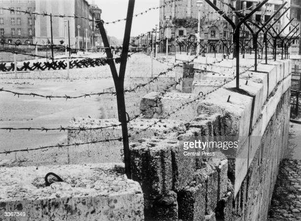 A section of the Berlin Wall at Potsdamer Platz maintained by the German Democratic Republic between 1961 and 1989