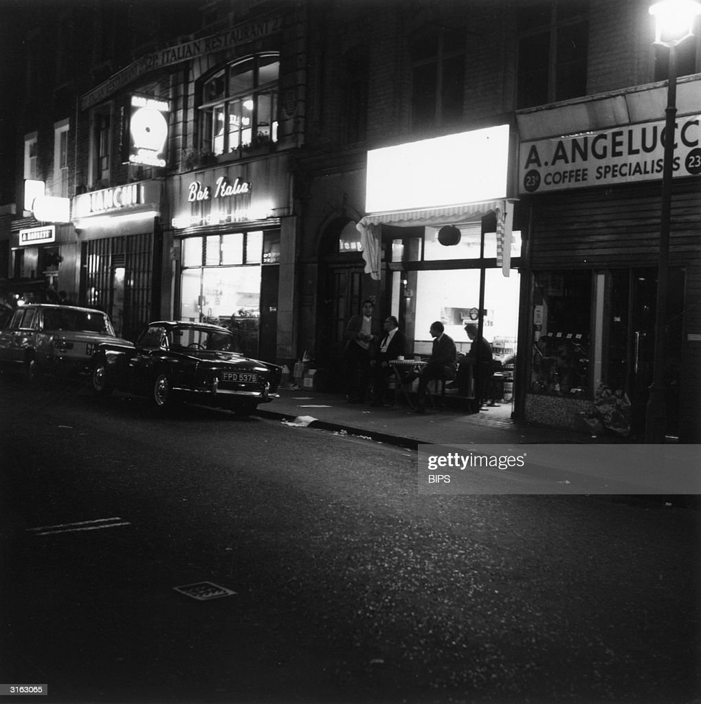 The Bar Italia, a well known late night cafe in the Soho district of London.