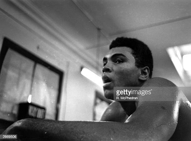 US boxer Muhammad Ali in training for a match against Brian London