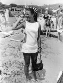 American film star and former child actress Natalie Wood on the beach in St Tropez