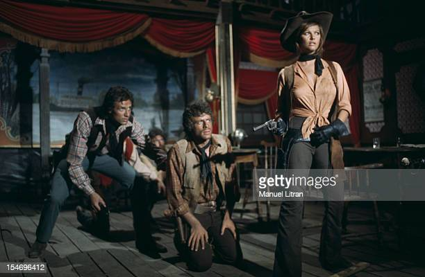 August 1971 filming of 'The Petroleuses' ChristianJaque Claudia Cardinale and George BELLER