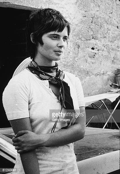 August 1971 Italianborn actor and model Isabella Rossellini at age 19 in Rome on the set of her father director Roberto Rossellini's film 'Blaise...