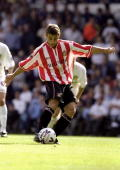 Kevin Phillips of Sunderland scores a penalty against Leeds United during the FA Carling Premiership match at Elland Road in Leeds England Leeds won...