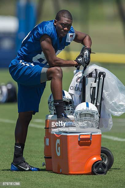 Indianapolis Colts wide receiver Ryan Lankford during the Indianapolis Colts Training Camp at Anderson University in Anderson IN