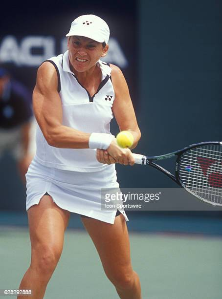 2 August 2001 Monica Seles during the Acura Classic La Costa Spa and Resort San Diego CA