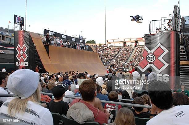 Crowds at the Skateboard Vert Finals ESPN X Games 15 Los Angeles CA