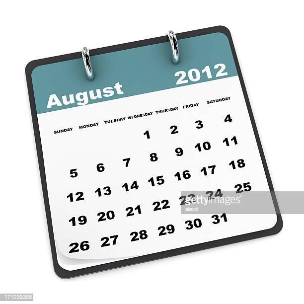 Calendario de agosto de 2012