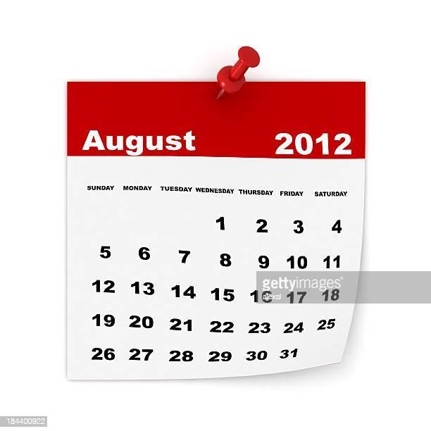 Calendrier août 2012