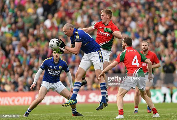 30 August 2014 Kieran Donaghy Kerry in action against Kevin Keane Mayo GAA Football All Ireland Senior Championship SemiFinal Replay Kerry v Mayo...