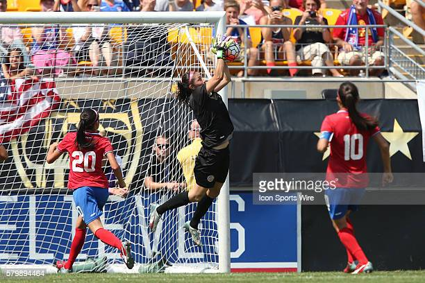 Dinnia Diaz makes a save The United States Women's National Team played the Costa Rica Women's National Team at Heinz Field in Pittsburgh...
