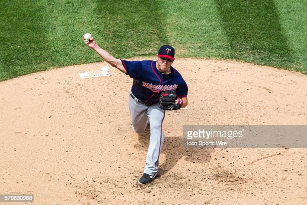 Minnesota Twins Pitcher Casey Fien [9006] delivers a pitch to the plate during the sixth inning of the game between the Minnesota Twins and Cleveland...