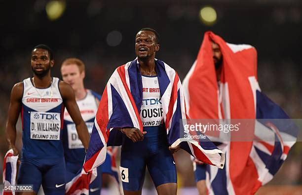 30 August 2015 Rabah Yousif of Great Britain Delanno Williams of Great Britain Jarryd Dunn of Great Britain and Martyn Rooney of Great Britain...