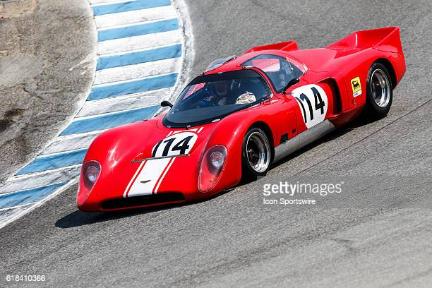 A 1970 Chevron B16 driven by Steve Walker from Amity OR competed in Group 3B during Rolex Race 3B at the Rolex Monterey Motorsports Reunion held...