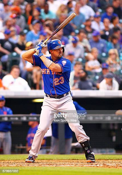 New York Mets Outfielder Michael Cuddyer bats during a regular season major league baseball game between the Colorado Rockies and the visiting New...