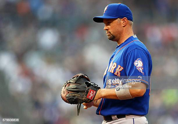 New York Mets Outfielder Michael Cuddyer during a regular season major league baseball game between the Colorado Rockies and the visiting New York...