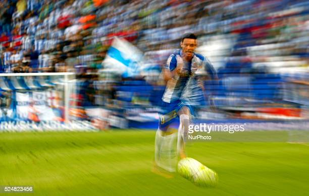august 22 SPAIN Burgui in the match between RCD Espanyol and Getafe corresponding to the week 1 of the spanish League played at the Power8 Stadium on...