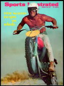 August 23 1971 Sports Illustrated Cover Motocross Celebrity actor Steve McQueen in action on motorcycle Mojave Desert CA 6/13/1971