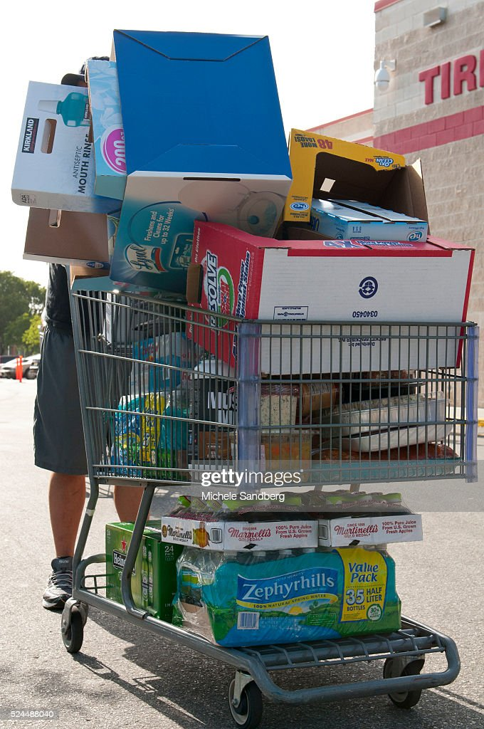 August 23 2012 ANDRES DIAZ buying beverages food and supplies in preparation of Storm Isaac South Florida prepares for Storm Isaac