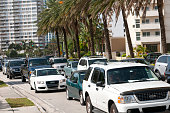 August 23 2012 People shopping for supplies in preparation of Storm Isaac and hurrying home from work are causing traffic jams on city streets in...