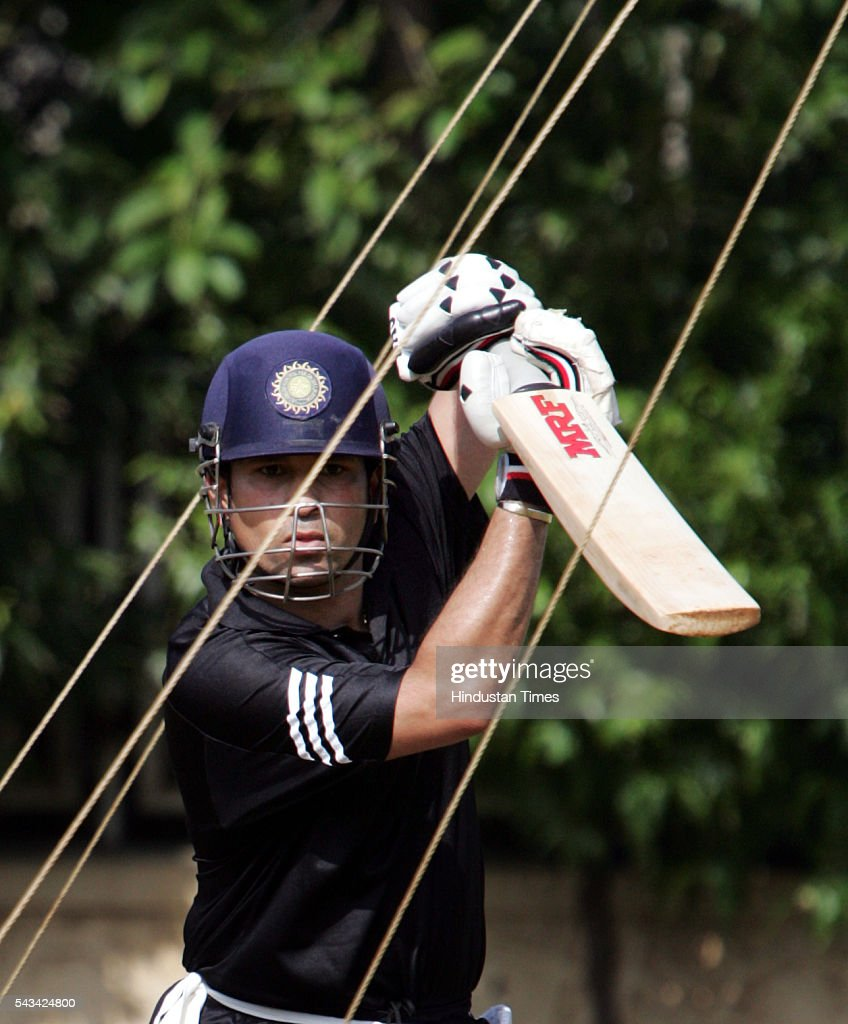 Sachin Tendulkar practicing at MIG August 23, 2015.