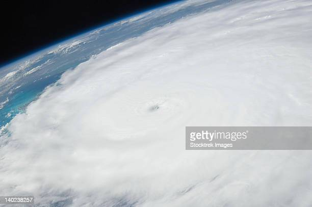 August 24, 2011 - The eye of Hurricane Irene photographed from onboard the International Space Station.