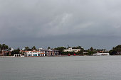 August 24 2012 Stormy weather hits Miami as Tropical Storm Isaac approaches Florida Dark clouds settle over Miami Beach
