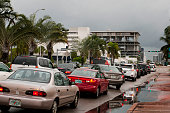 August 24 2012 Stormy weather hits Miami as Tropical Storm Isaac approaches Florida