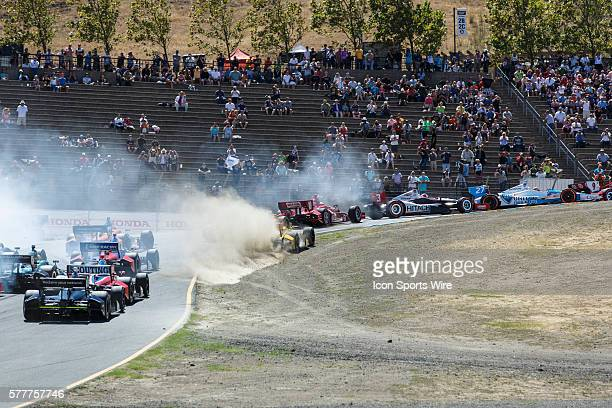First start resulted in offroading at turn 2 during the first lap of the GoPro Grand Prix of Sonoma at Sonoma Raceway CA Scott Dixon in the Target...