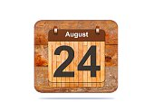 Calendar with the date of August 24.