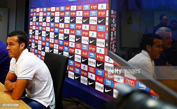 Pedro Rodriguez in the press conference FC Barcelona farewell held at the Sports City on august 24 2015 Photo Joan Valls/Urbanandsport/JamMedia