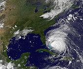August 25, 2011 - Satellite view of Hurricane Irene.