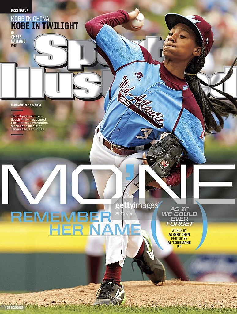 Youth Baseball Little League World Series MidAtlantic Region Team Mo'ne Davis of Taney Youth Association from Philadelphia in action pitching vs...