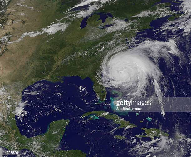 August 26, 2011 - Satellite view of Hurricane Irene.