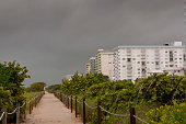 August 26 2012 Grey skies cover the beach during storm Isaac