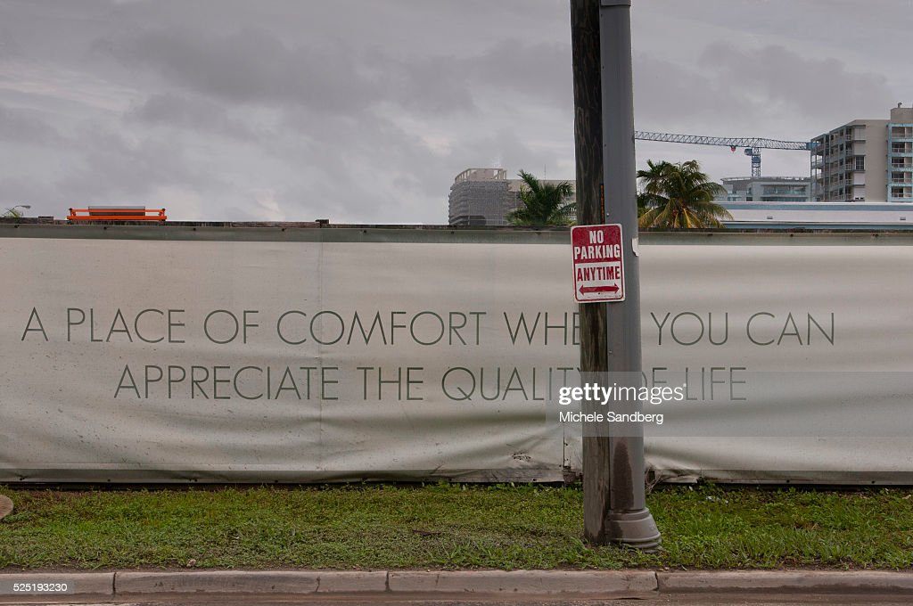 August 26 2012 Signage Of Comfort And Quality Of Life Spotted During The Isaac Storm