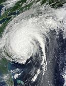 August 27, 2011- Hurricane Irene over the eastern United States.