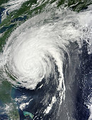 August 27, 2011- Hurricane Irene over the eastern United States.