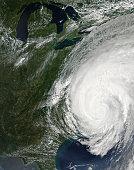 August 27, 2011 - Hurricane Irene over the eastern United States.