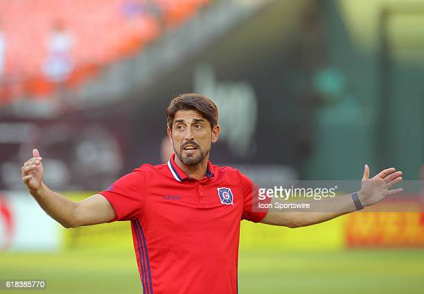 Chicago Fire head coach Veljko Paunovic before a MLS soccer match at RFK Stadium in Washington DC DC United defeated the Chicago Fire 62