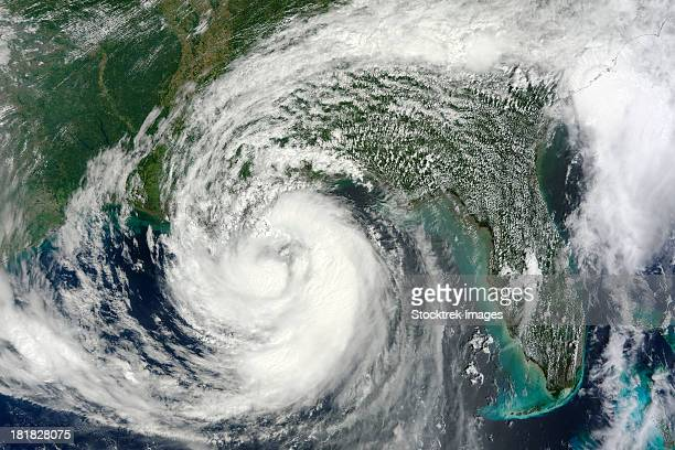 August 28, 2012 - Hurricane Isaac in the Gulf of Mexico.