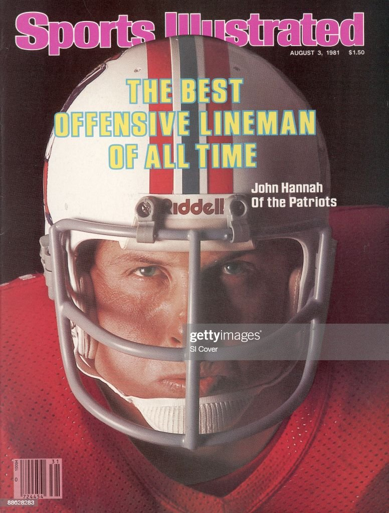 August 3 1981 Sports Illustrated Cover Football Closeup portrait of New England Patriots John Hannah at his home Crossville AL 7/13/1981 CREDIT Frank...