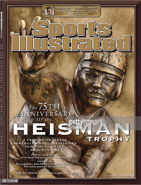 College Football Still life closeup of the Heisman Trophy Oklahoma State issue New York NY 6/30/2009 Insert Oklahoma State Barry Sanders during 1988...