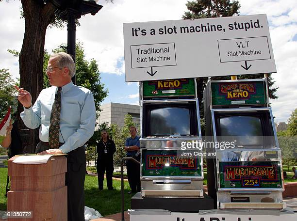 DENVER COLO August 4 2003 John C Dill <cq> head of Don't Turn Race Tracks Into Casinos <cq> a group opposed to video lottery terminals <cq> brought a...