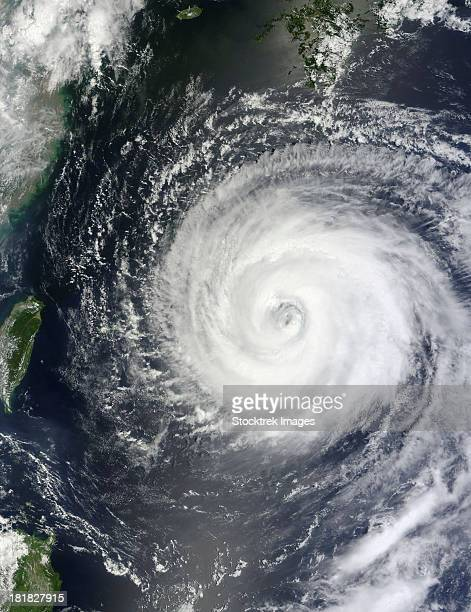 August 4, 2011 - Typhoon Muifa east of Taiwan in the Pacific Ocean.