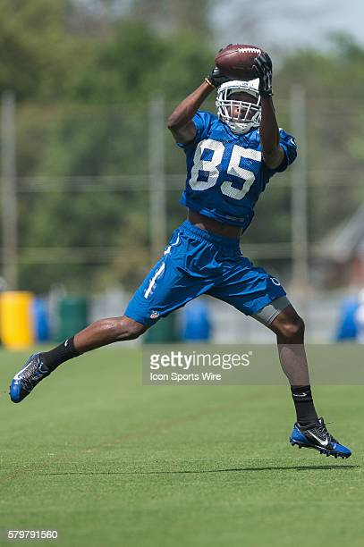 Indianapolis Colts wide receiver Ryan Lankford during the Indianapolis Colts Training Camp practice at Anderson University in Anderson IN